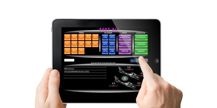 ipad con visualizzata una schermata della reg ISO in Rent-all