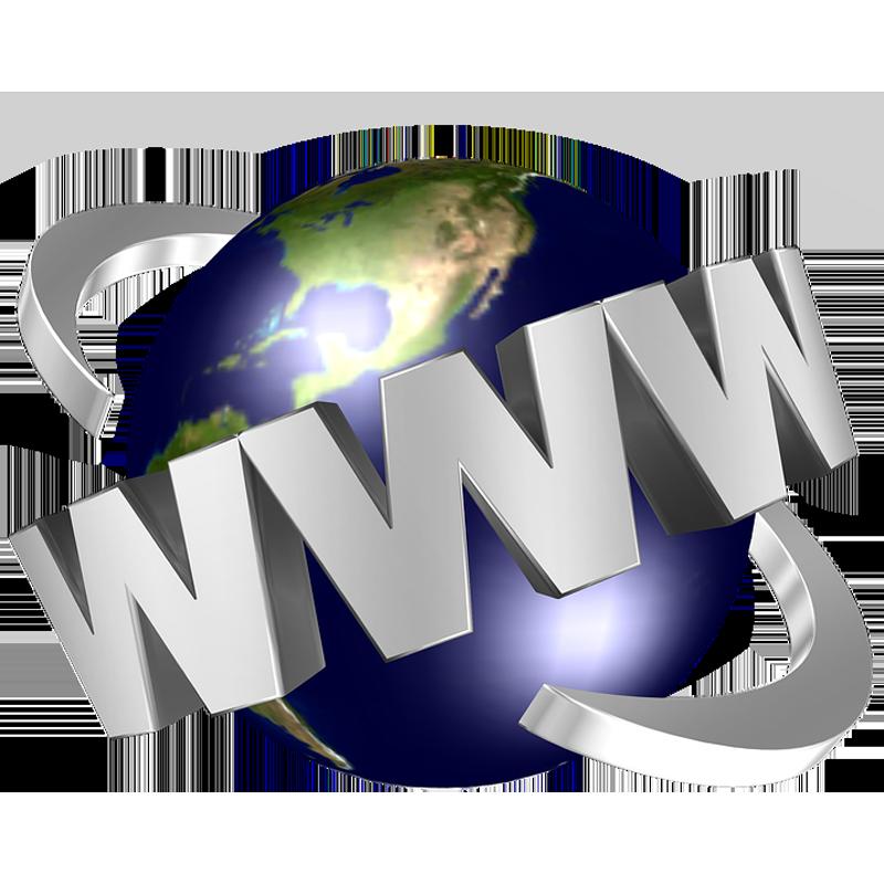mondo con scritta www in orbita